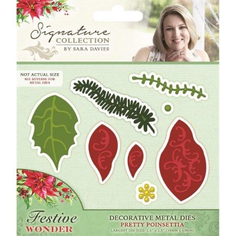 Sara Signature Festive Wonder Collection - Pretty Poinsettia Die